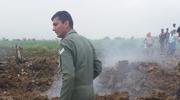 印度空军一架双座型米格-21战斗机坠毁
