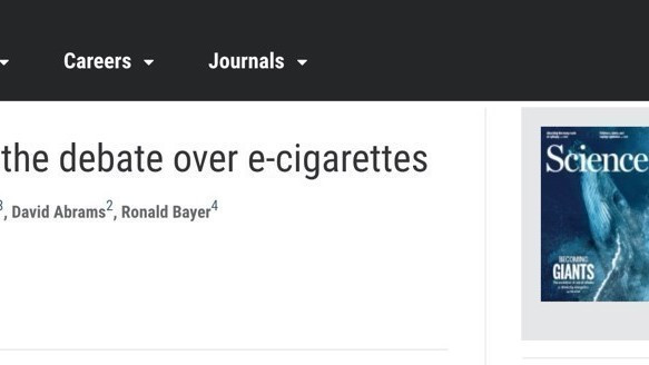《科学》杂志:电子烟虽不完美 却是更安全的香烟替代品