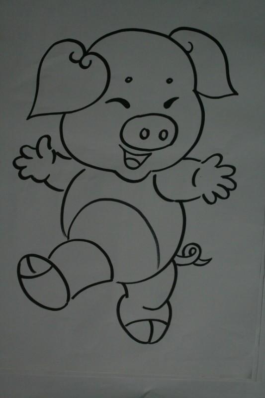 新年猪猪简笔画
