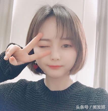 2018适合圆脸减龄显瘦短发_胖嘟嘟圆脸女生发型图片