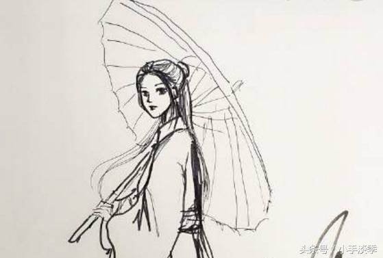 杨幂,杨颖,张馨予的手绘画,张馨予画功深厚,杨颖最抽象!