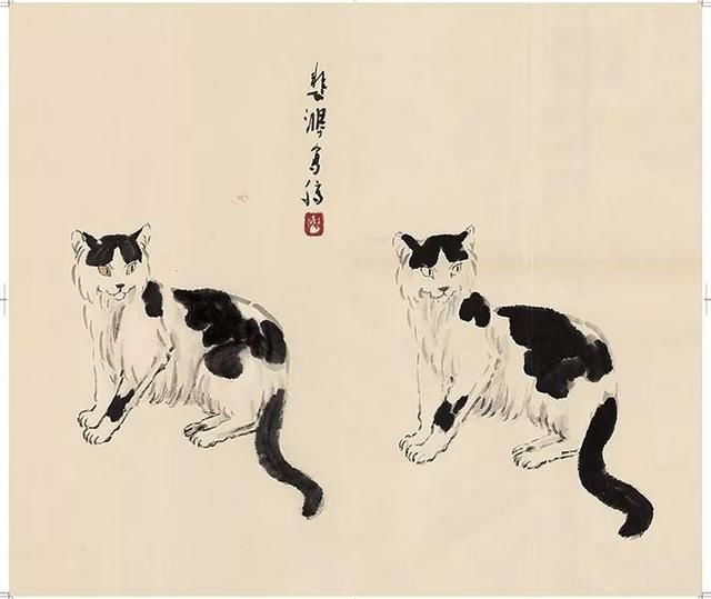 向徐悲鸿学画的点这里--徐悲鸿画马画牛画猫珍贵步骤