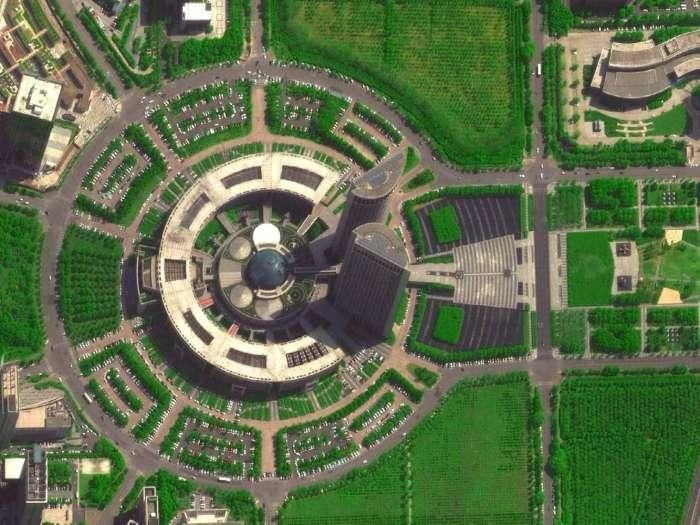 美国黑科技卫星拍摄合肥 探测出玉兰大道开福寺路段车身热辐射