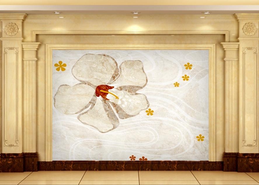 玻璃拼镜,雕花镂空密度板,石材罗马柱等等材料进行搭配装饰背景墙.