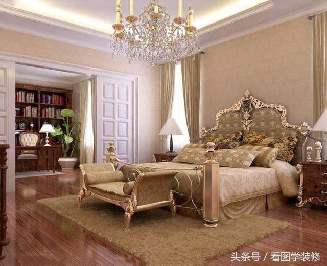 卧室装修效果图-15-20平米欧式风格卧室装修效果图