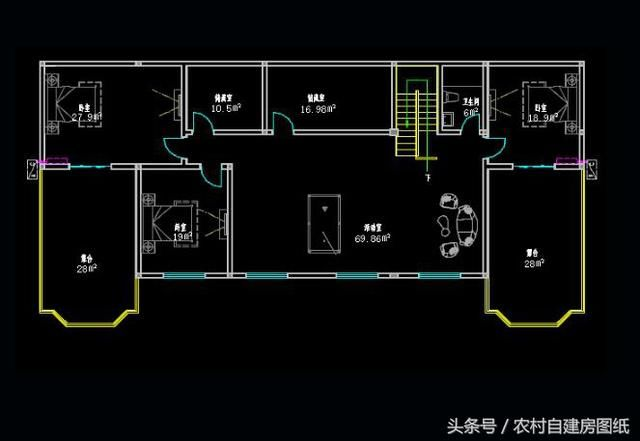 24x12米兄弟双拼别墅,一层公用,二层为套房,三层阁楼图片