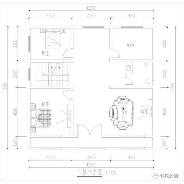 10x12 平面图