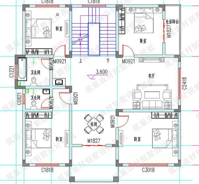 40万3厅9卧6卫1312米带休闲厅健身厅套间别墅建筑结构水电图