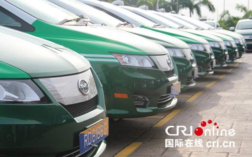 比亚迪e6电动车装备新加坡首批纯电动车出租车队图片