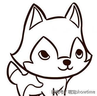 分享大家几个狗狗的简笔画,画风可爱