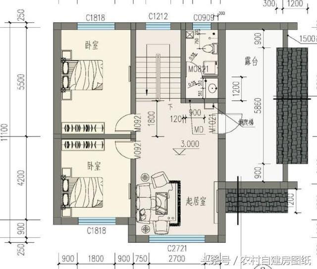 20万带庭院的农村房屋设计图,5套方案,2款带火炕