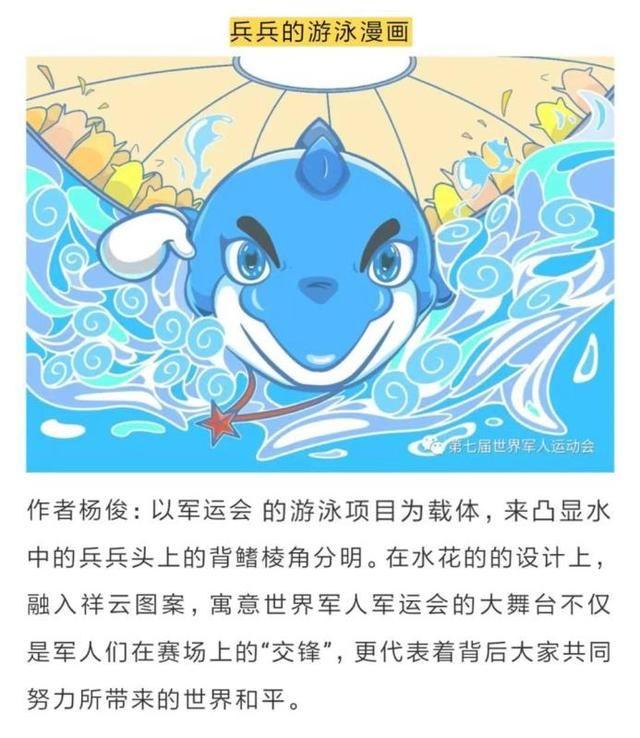 """兵兵骑自行车 这些参赛画作展示了一个""""超级全能""""的武汉军运会吉祥物图片"""