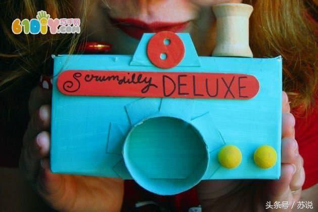幼儿园手工创意教程,幼师宝妈必备亲子diy,纸盒制作相机图解