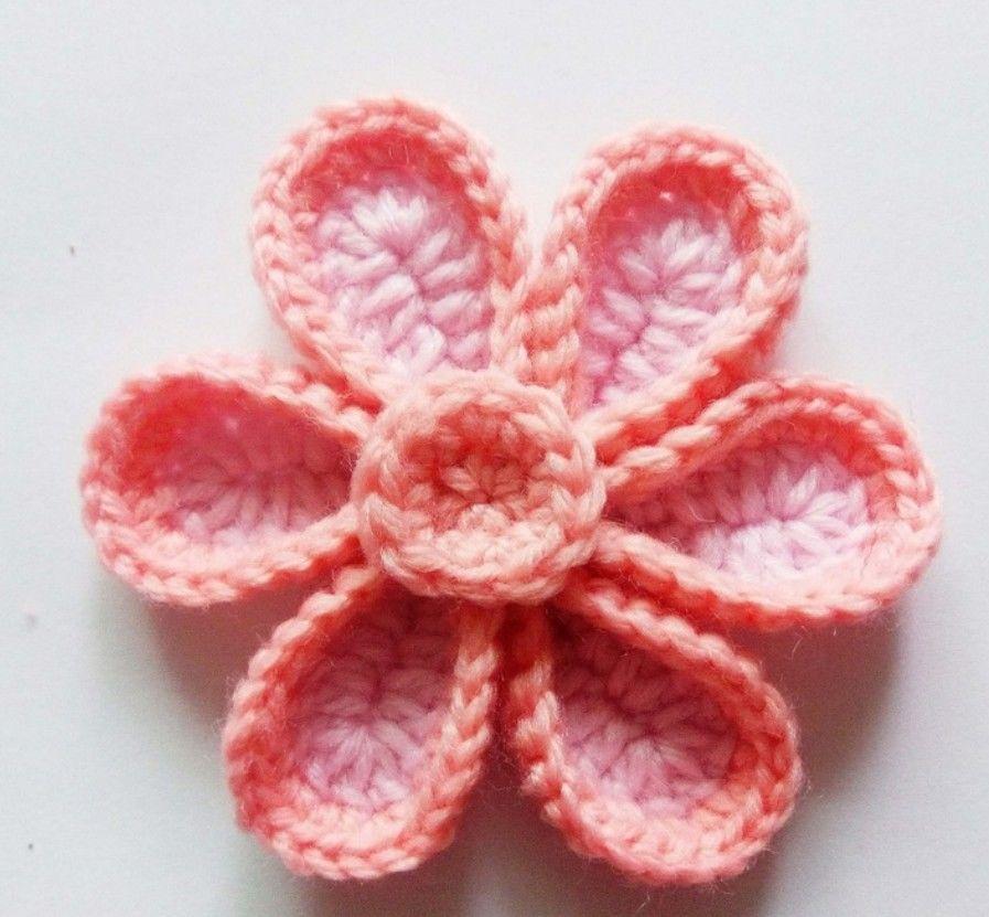 钩针编织装饰花图解,一步步教你钩出美丽花朵,简单易学