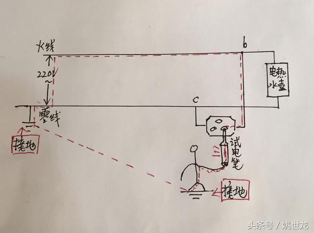 初中电学难点解析:家庭电路中为何零线会使试电笔氖管