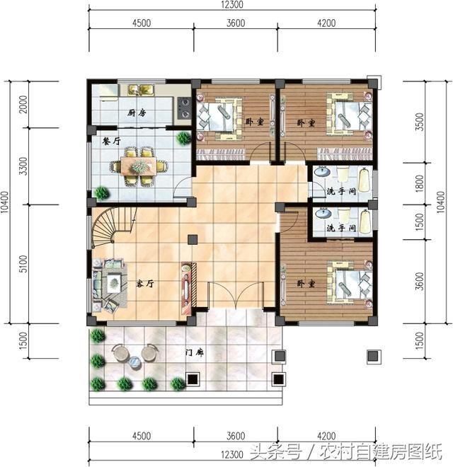 4米,占地面积130.46平方米,建筑面积330平方米,主体造价32-36万.