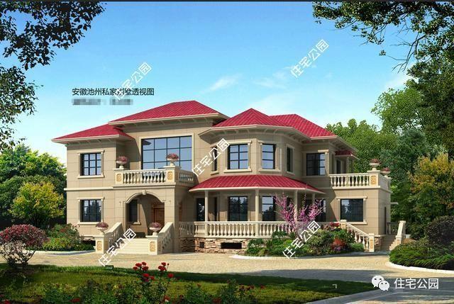 提供了两种建筑外观配色可选,别墅欧式风格,大气奢美;室内布局贴合