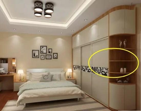 卧室衣柜万万不要做成圆角,占地不实用,我家被坑惨了