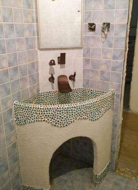 我特意请师傅砌的洗手池,却被吐槽像农村的灶台,真没欣赏水平!