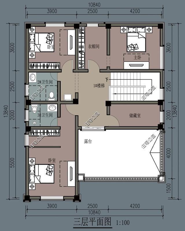 13x13米农村别墅,柴火灶现代双厨房设计,理想图片