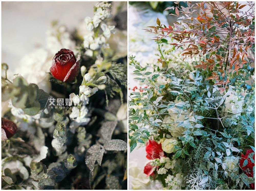 雪花片拼玫瑰花步骤图