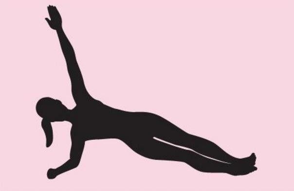 左手臂伸直,向上延展; 保持三十秒以上,左手缓慢落下,回到肘板支撑图片