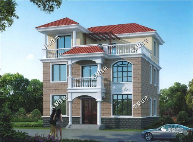 这款户型是经典的欧式风格别墅,三层的露台面积超大,十分实用.