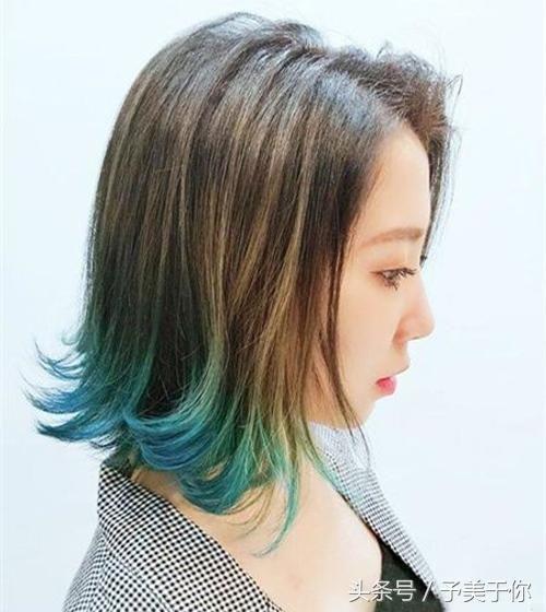 发尾外翘烫卷设计的发型在这两年火到不要不要的,齐肩lob发型发尾外翘图片