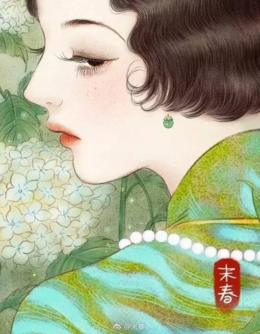 她笔下的民国旗袍美人,美的风情万种,惊艳了岁月!