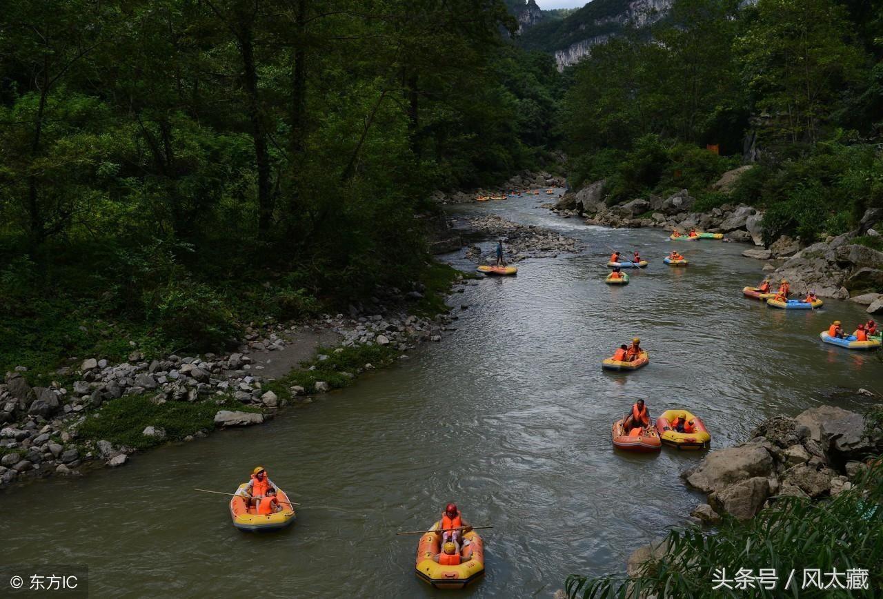 """鹳河漂流风景区 南阳市的西峡县 被人们称为""""中原第一"""