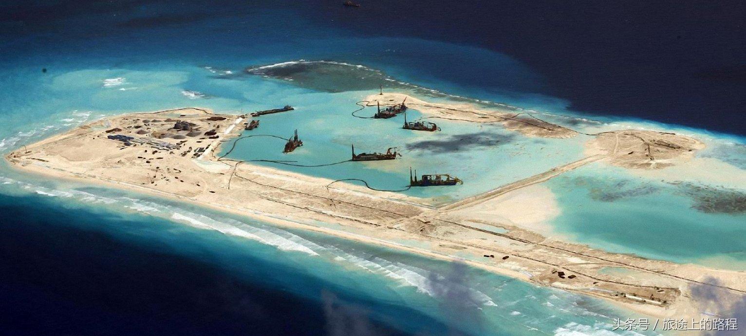 南沙群岛最新填海囹�a_南沙群岛虽是中国的固有领土,但其中部分岛礁长期被周边一些国家非法
