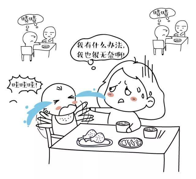 儿童自己吃饭简笔画