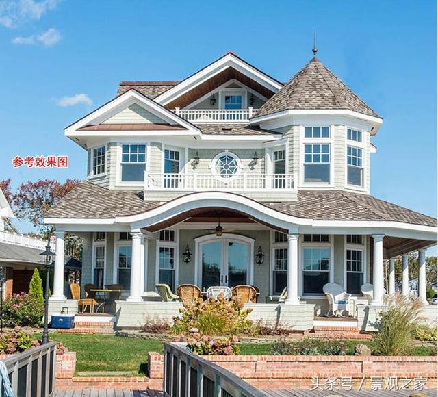 农村二层半别墅设计图及效果图,造价35万欧式别墅