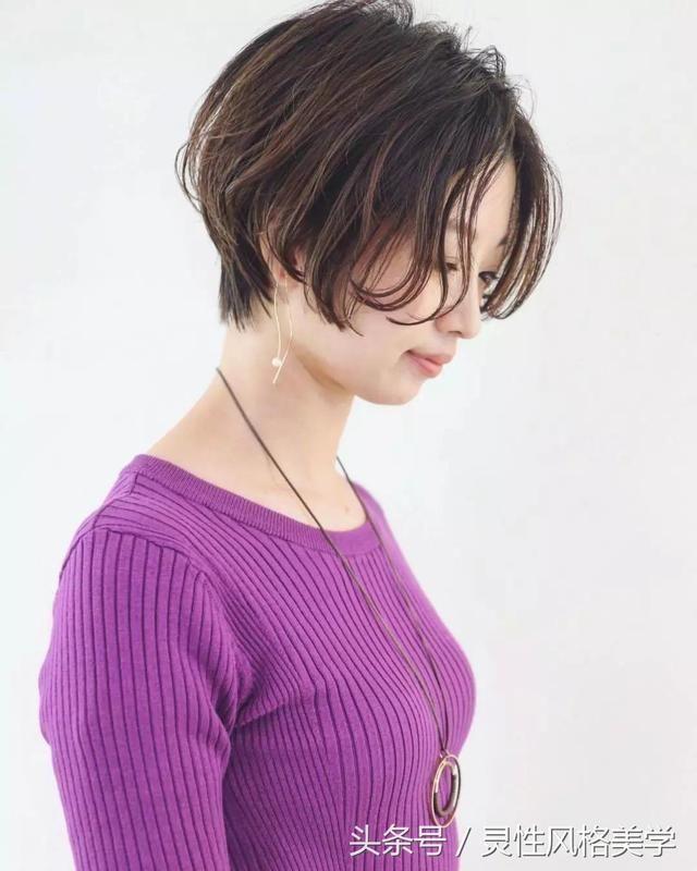 2018减龄发型短发,想剪短的可以试试!图片