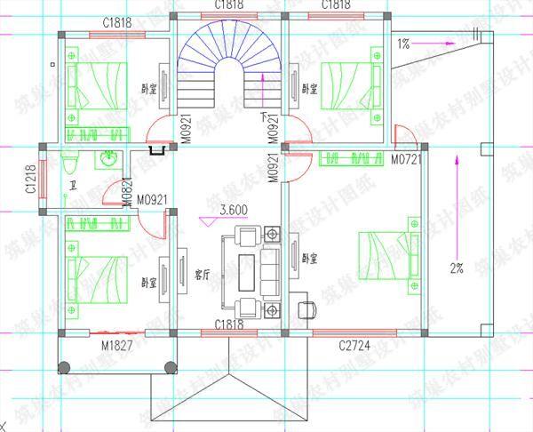 盖起来的房子又大又敞亮,每一个细节都能按照自己的喜好来设计,想必这