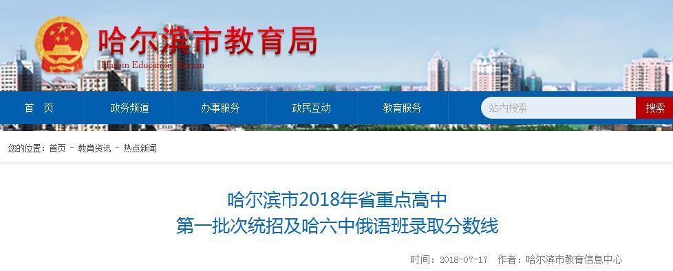 哈市省批次高中一重点统招发布分数线录取!南高中文言文作文600字图片