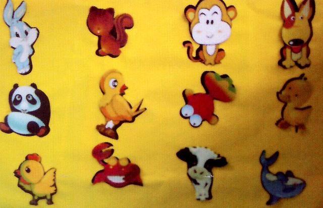 【2】花花衣——动物拼图 材料:各种动物拼图(也可根据自己需要自制)