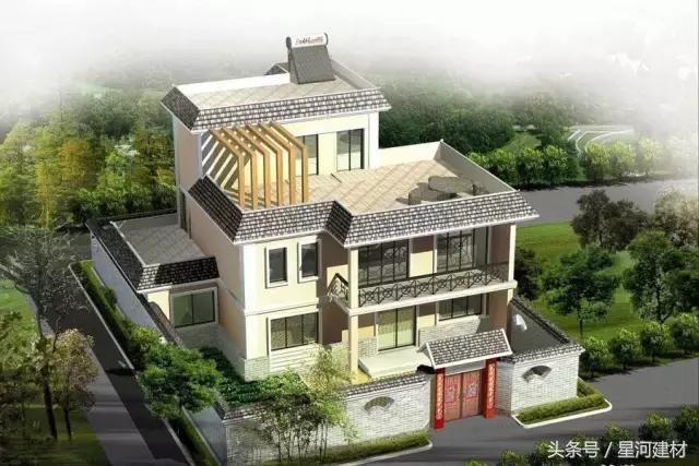 12套平屋顶农村自建房设计效果图,打破传统居住,你最爱哪一套?
