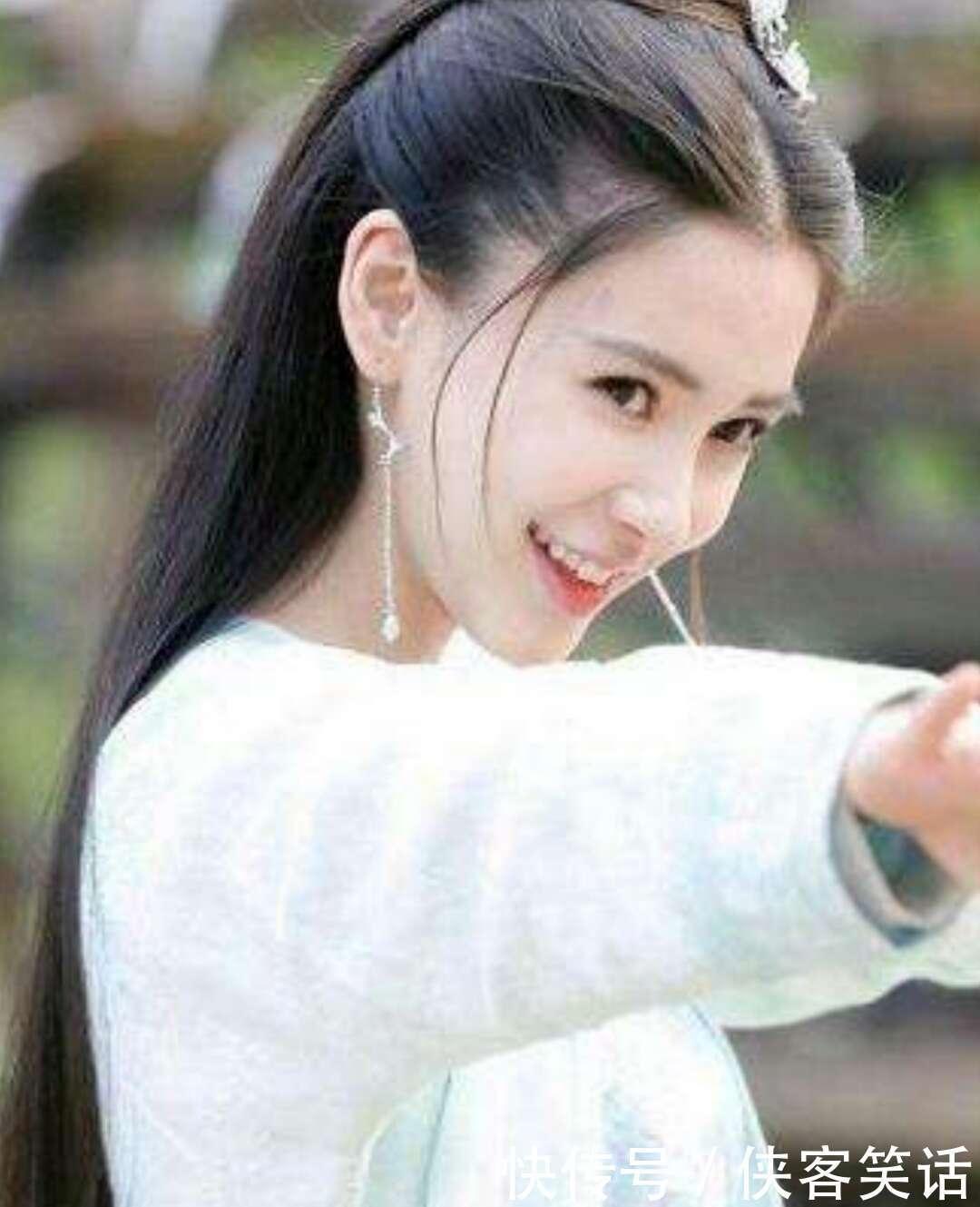 七位古装白衣女子:郑爽清纯,赵丽颖可爱,最美的是她