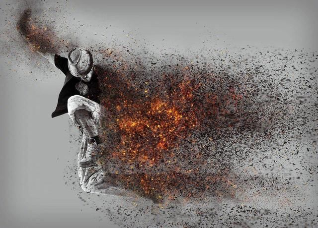 一大波福利分享 人物燃尽消散的特效素材
