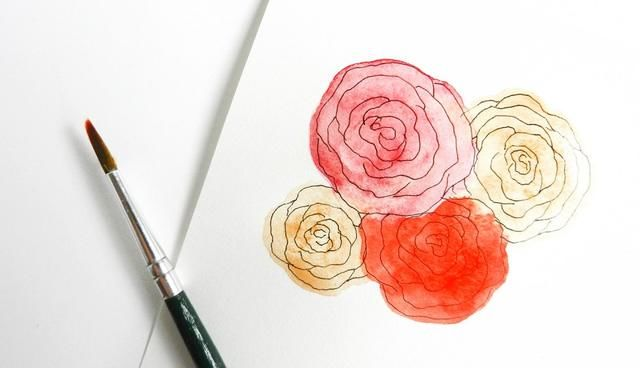 最简单的手绘玫瑰方法,适用于彩铅或蜡笔,以及铅笔等等.