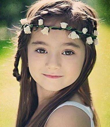 儿童公主头梳发无刘海发型设计 最后这款儿童公主头梳发无刘海发型