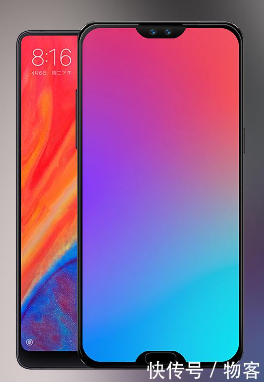 双刘海的概念版魅族 16,屏幕边框对比小米mix3, 概念版魅族 16的屏幕
