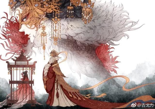 古色古香,展现了唯美中国风 《半面妆》作画步骤图