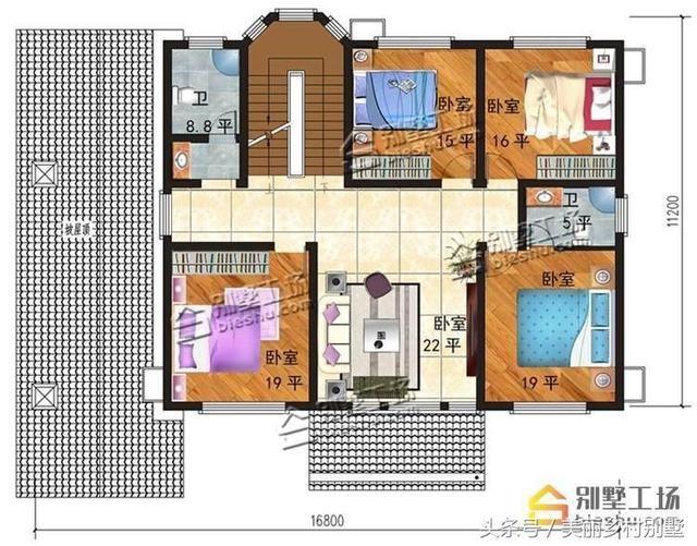房屋设计图平面图8x13