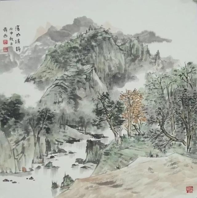 山水围棋图片素材
