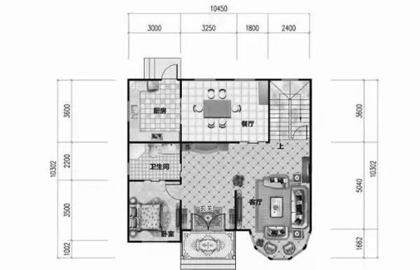 1010米25万2厅4卧农村二层房屋设计图-北京时间图片