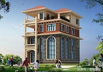 农村四层楼房设计图,含外观图片,带露台房屋推荐