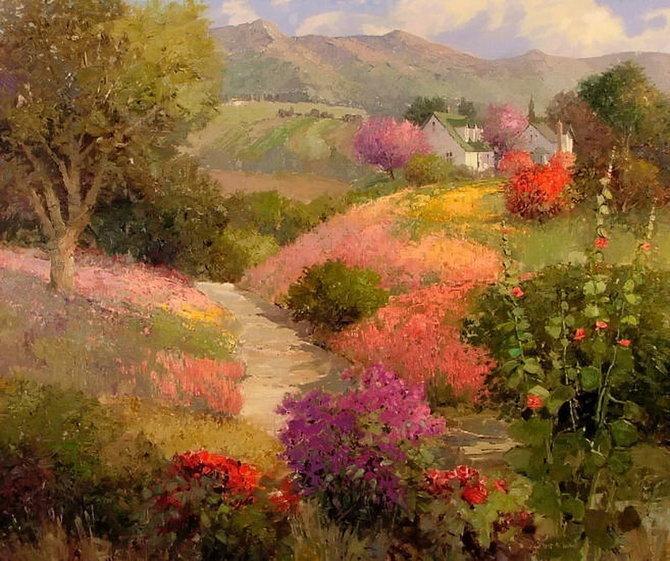 印象派大师 美国kent·r·wallis风景油画欣赏