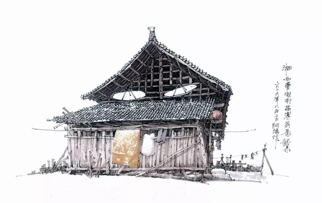 从钢笔画到马克笔画,他笔下这84张传统古村落写生作品